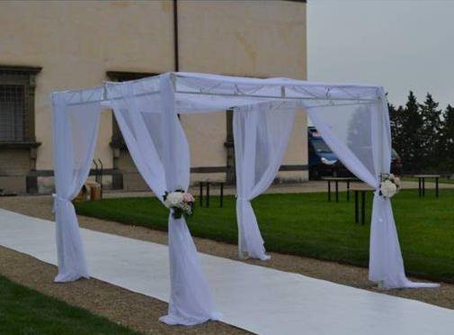 Noleggio gazebo per matrimoni 2 6x2 6 m circa a milano