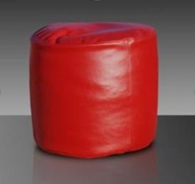 Pouf cilindro rosso