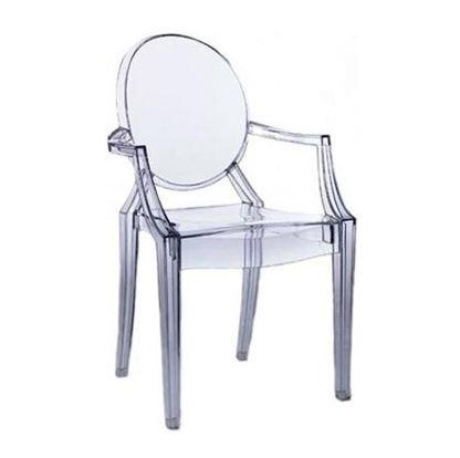 Trasparent Chair LOUIS Ghost by Kartell Rental in Milan Italy